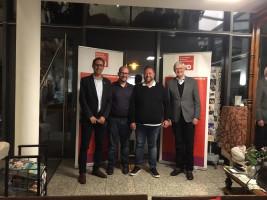 v. l.: MdB Michael Schrodi, Andreas Fischer, Heinz Schafferhans, Prof. Dr. Werner Widuckel